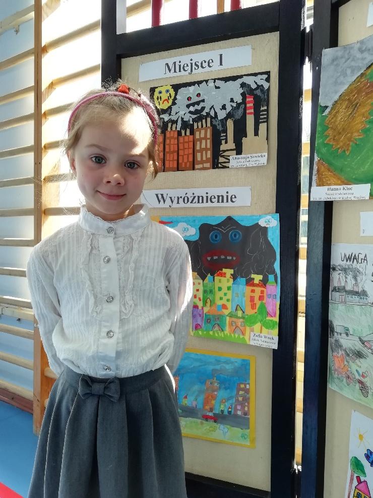 I miejsce dla Anastazji Sawickiej w konkursie Ekologicznym